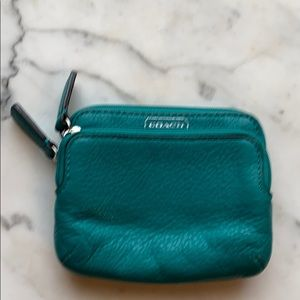 Coach credit card and change purse